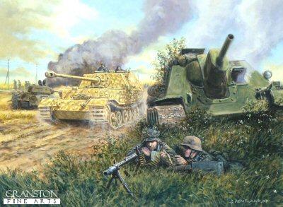 The Battle for Ponyri Station, Kursk, 9th July 1943 by David Pentland. (PC)