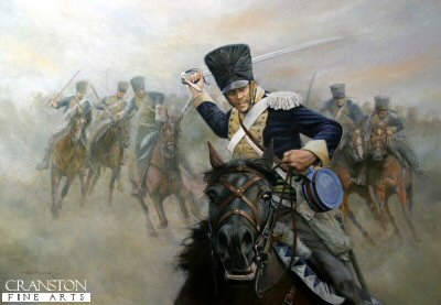 Ride Like the Devil - the Charge of the 13th Light Dragoons at the Battle of Vittoria by Chris Collingwood. (GS)