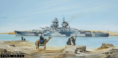 Richelieu in the Suez Canal by Randall Wilson. (P)