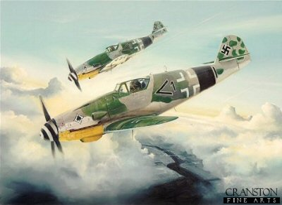 Bf109 K-4 by Randall Wilson. (GL)