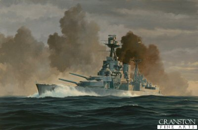 The Final Salvo - HMS Hood by Anthony Saunders. (GS)