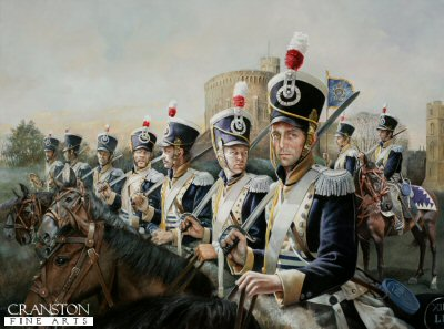 13th Light Dragoons at Windsor Castle by Chris Collingwood. (P)