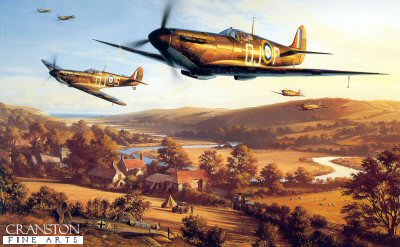 DHM1628B. September Victory by Nicolas Trudgian. <p> Spitfires pass above a downed Me110 as they return to base at Biggin Hill in September 1940, the most intense and crucial phase of the Battle of Britain. <b><p> Signed by <a href=profiles.php?SigID=88>Squadron Leader Geoffrey Wellum DFC</a>, <br><a href=profiles.php?SigID=807>Tony Pickering AFC</a>, <br><a href=profiles.php?SigID=60>Group Captain Brian Kingcome DSO DFC (deceased)</a>, <br><a href=profiles.php?SigID=884>Wing Commander Ken W MacKenzie (deceased)</a>, <br><a href=profiles.php?SigID=548>Air Commodore James Leathart (deceased)</a>, <br><a href=profiles.php?SigID=89>Air Commodore Sir Archie Winskill KCVO CBE DFC AE (deceased)</a>, <br><a href=profiles.php?SigID=80>Squadron Leader Jocelyn G P Millard (deceased)</a>, <br><a href=profiles.php?SigID=3>Group Captain Tom Dalton Morgan DSO, DFC*, OBE (deceased)</a>, <br><a href=profiles.php?SigID=44>Wing Commander Wilfred M Sizer DFC* (deceased)</a>, <br><a href=profiles.php?SigID=625>Vivian Snell (deceased)</a>, <br><a href=profiles.php?SigID=1317>Flight Lieutenant William Walker (deceased)</a>, <br><a href=profiles.php?SigID=114>Squadron Leader Basil Stapleton DFC (deceased)</a> <br>and <br><a href=profiles.php?SigID=139>Air Commodore Alan Deere DSO DFC* (deceased)</a>. <p> Signed limited edition of 40 publishers proofs. <p> Paper size 33 inches x 24 inches (85cm x 61cm)