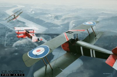 Captain Roy Brown engages the Red Baron, 21st April 1918 by Ivan Berryman. (GS)