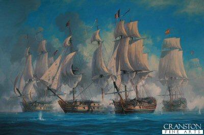 The Battle of Trafalgar - Mars Breaks the Line by Anthony Saunders.