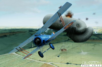 Sous-Lieutenant Willy Coppens - Roasting A Sausage by Ivan Berryman. (GL)