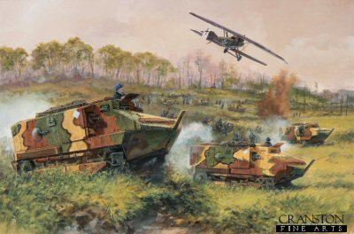 Tanks on the Marne - France, 18th July 1918 by David Pentland. (GS)