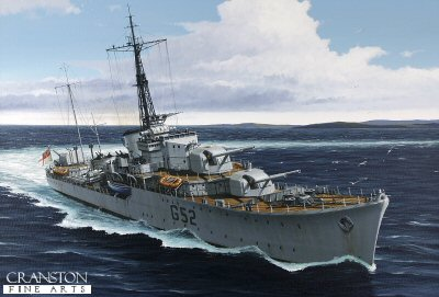 HMS Matchless by Ivan Berryman. (GS)