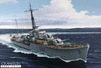 HMS Matchless by Ivan Berryman. (GL)