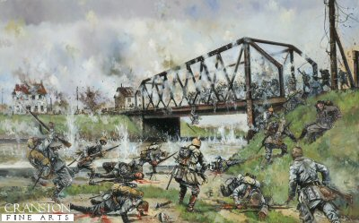 German Assault on the Nimy Bridge, Mons, 23rd August 1914 by Jason Askew. (GS)
