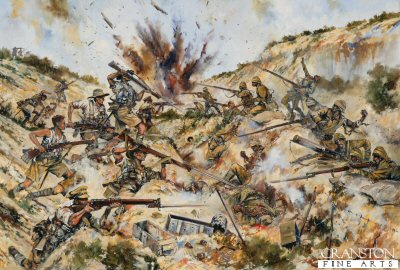 2nd Australian Brigade fighting in Gully Ravine by Jason Askew. (GL)