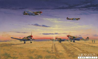 Kittyhawks of No.112 Squadron by Graeme Lothian. (GS)