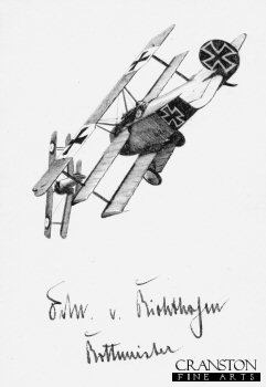 The Red Baron (with original WW1 signature) by Ivan Berryman. (P)