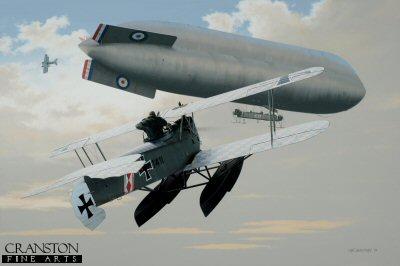 Hansa Brandenburg W.12 - Attack on the C.17 by Ivan Berryman. (GL)