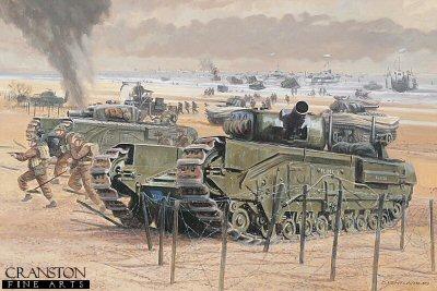 Gold Beach, Normandy, 6th June 1944 by David Pentland.