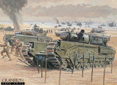 Gold Beach, Normandy, 6th June 1944 by David Pentland. (PC)