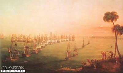 Battle of the Nile, 1st August 1798 by Nicholas Pocock.