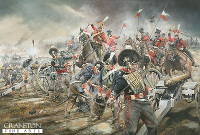 The Charge of the Red Lancers on Mercers Troop of Royal Horse Artillery by Chris Collingwood.