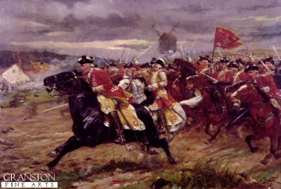 The Charge of the 6th Inniskilling Dragoons at Tolnay by William Barnes Wollen.