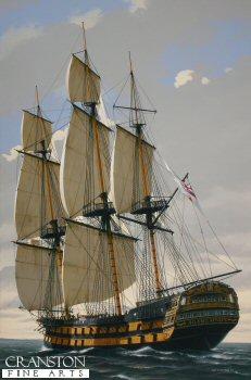 HMS Agamemnon by Ivan Berryman.