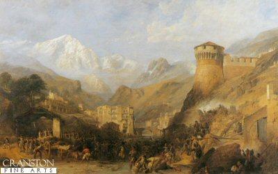 Battle of Roveredo by William Clarkson Stanfield. (Y)