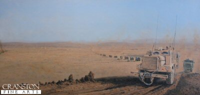 Convoy - Sangin Valley, Afghanistan by Graeme Lothian. (GS)