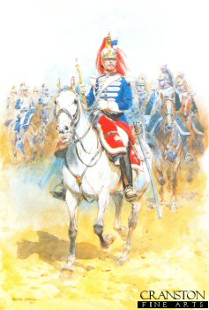 Trumpeter of the French Cuirassiers Going to Battle by Edouard Detaille. (Y)