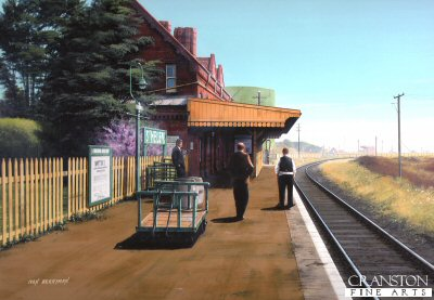 St Helens Station 1953 by Ivan Berryman.