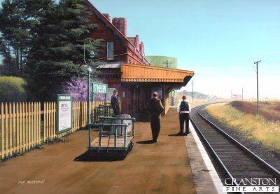 St Helens Station 1953 by Ivan Berryman.
