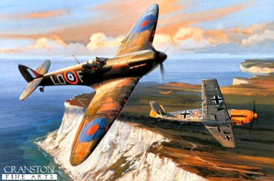Combat Over Beachy Head by Nicolas Trudgian.