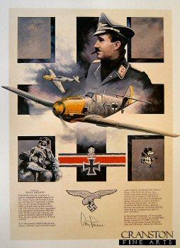 Fighter Legend - Adolf Galland by Nicolas Trudgian.