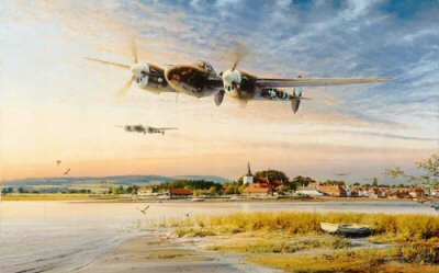 Coming In Over the Estuary by Robert Taylor.