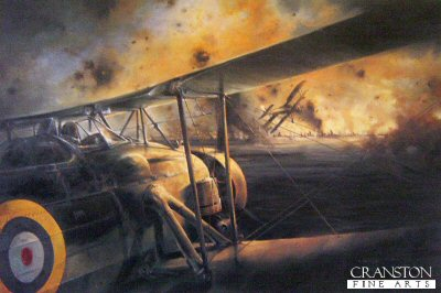 DHM2174.  Swordfish Attack at Taranto by Robert Taylor. <p> On November 11, 1940 a group of 21 slow, outdated Swordfish biplanes attacked and crippled the Italian Fleet in the heavily defended port of Taranto. One of the most daring raids of World War II captured in this print for posterity. <p><b>Last 25 copies of this sold out edition. </b><b><p> Signed by Commander Charles Lamb DSO DSC Royal Navy (deceased) and Vice-Admiral Sir Hugh &#39;Dick&#39; Janvrin KCB CB DSO Royal Navy (deceased).<p> Signed limited edition of 1500 prints. <p> Paper size 24 inches x 20 inches (61cm x 51cm)