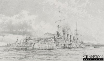 Scharnhorst at Anchor by Robert Taylor.