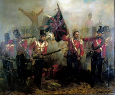 Sergeant Luke OConner Winning the Victoria Cross at the Battle of Alma by L.W. Desanges.