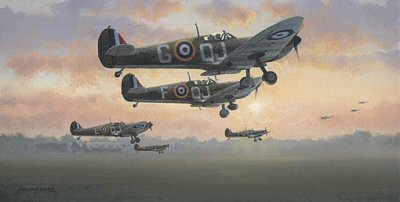 First Light - Battle of Britain, July 1940 by Philip West.