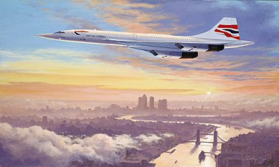 Concorde - Early Morning Arrival by Stephen Brown.