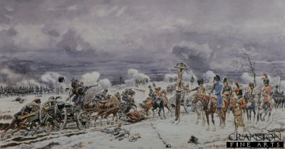 Arrival of the Horse Artillery at Eylau by Benigni.