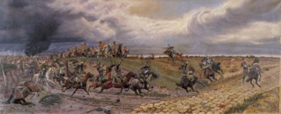 Charge of the Cuirassiers in the Sunken Road by Benigni.