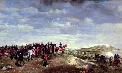 Napoleon III at Solferino by Jean Louis Ernest Meissonier. (Y)