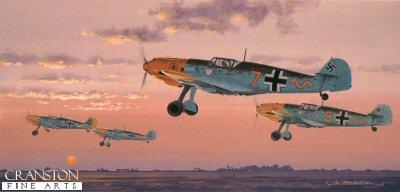 Messerschmitt BF109E-3 by Keith Woodcock. (B)
