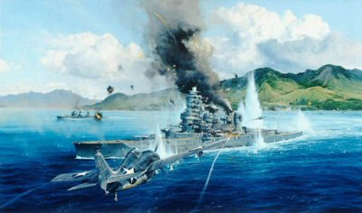 Attack on the Hiei by Robert Taylor.