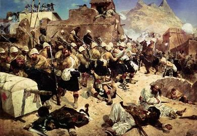 92nd Highlanders at the Battle of Kandahar by Richard Caton Woodville.