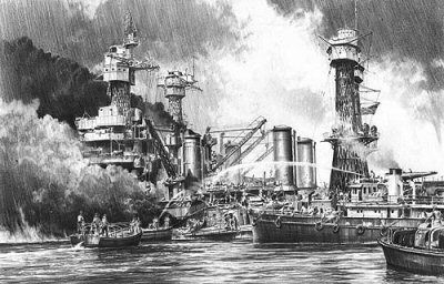 Battleship Row - The Aftermath by Robert Taylor.