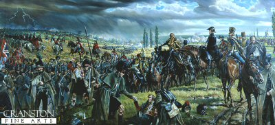 Wellington Leaving Quatre Bras for Waterloo by Mark Churms.