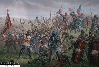 Richard III at the Battle of Bosworth, 22nd August 1485 by Mark Churms. (XX)