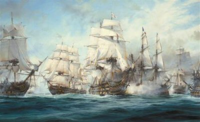 The Battle of Trafalgar by Robert Taylor.