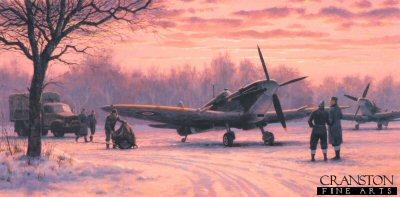 Spitfire Dawn by Keith Woodcock. (B)