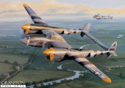 P-38 Lightning by Nicolas Trudgian.