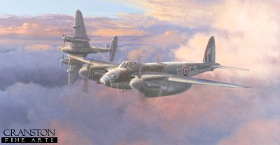 DHM2676AP. Ready for Action by Philip West. <p> The de Havilland Mosquito was one of the most outstanding British built aircraft of the Second World War. It was first proposed as a fast, unarmed bomber. However, once in service it proved to be extremely versatile and was produced in great numbers in various variants, fighter, bomber, photo reconnaissance and many more. The Wooden Wonder became a true thoroughbred. <b><p> Signed by Flight Lieutenant Aubrey Hilly Hilliard and Wing Commander Branse Burbridge DSO* DFC*. <p> Limited edition of 50 artist proofs. <p> Paper size 23 inches x 14.5 inches (58cm x 37cm)
